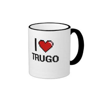 I Love Trugo Digital Retro Design Ringer Mug