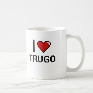 I Love Trugo Digital Retro Design Basic White Mug