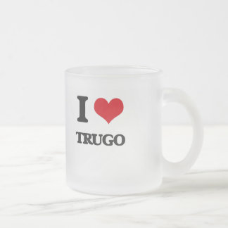 I Love Trugo Frosted Glass Mug