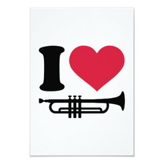I love trumpet invitation