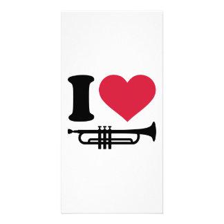 I love trumpet photo card