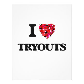 I love Tryouts 21.5 Cm X 28 Cm Flyer