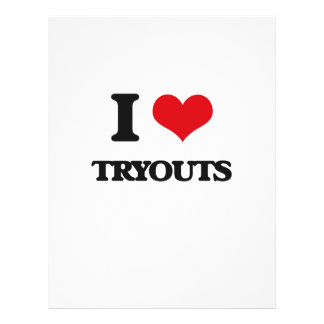 I love Tryouts 21.5 Cm X 28 Cm Flyer