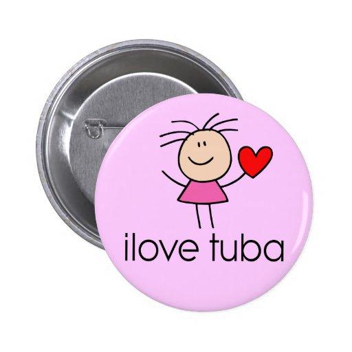 I Love Tuba Button