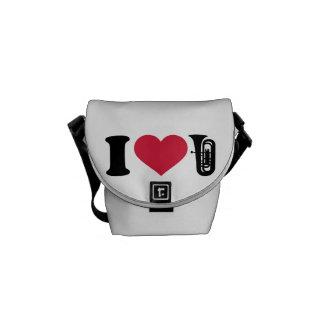 I love Tuba Courier Bag