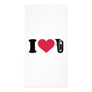 I love Tuba Custom Photo Card