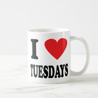I love tuesdays icon coffee mug