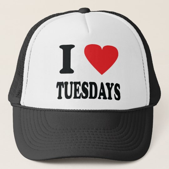 I love tuesdays icon trucker hat