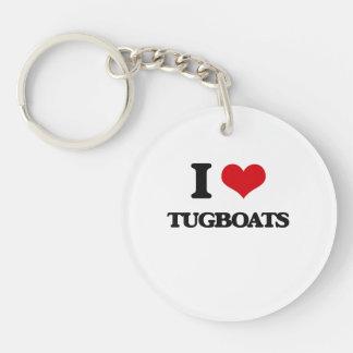 I love Tugboats Single-Sided Round Acrylic Key Ring