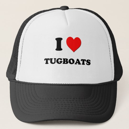I love Tugboats Trucker Hat