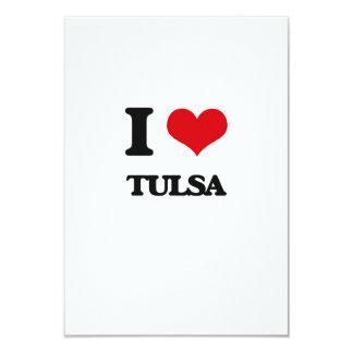 I love Tulsa 9 Cm X 13 Cm Invitation Card