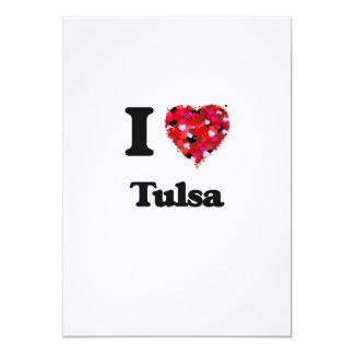 I love Tulsa Oklahoma 13 Cm X 18 Cm Invitation Card