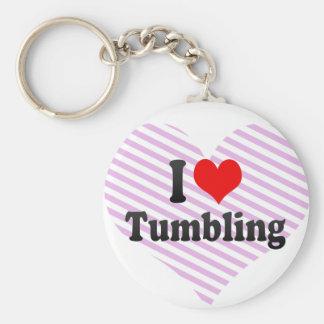 I love Tumbling Basic Round Button Key Ring