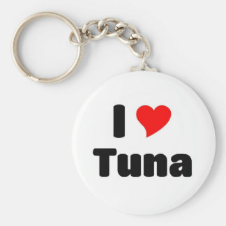 I love Tuna Basic Round Button Key Ring