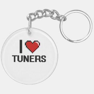 I love Tuners Double-Sided Round Acrylic Keychain