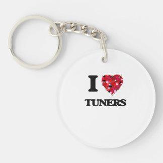 I love Tuners Single-Sided Round Acrylic Key Ring
