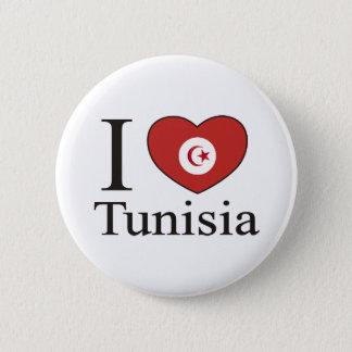 I Love Tunisia 6 Cm Round Badge