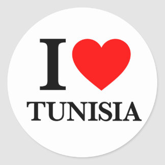 I Love Tunisia Classic Round Sticker