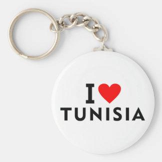 I love Tunisia country like heart travel tourism Key Ring