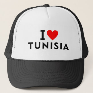 I love Tunisia country like heart travel tourism Trucker Hat