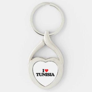 I LOVE TUNISIA KEY RING