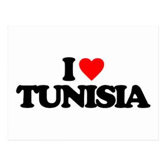 I LOVE TUNISIA POSTCARD