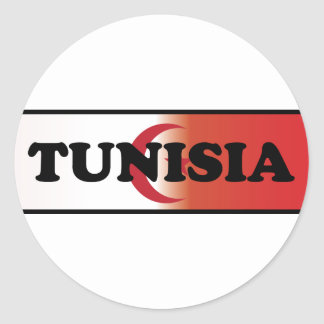 I Love Tunisia Round Sticker
