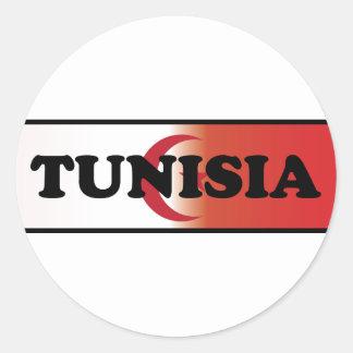 I Love Tunisia Round Sticker