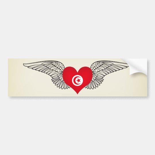 I Love Tunisia -wings Bumper Sticker