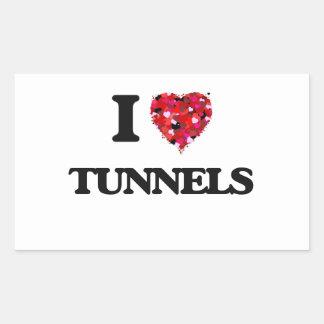 I love Tunnels Rectangular Sticker