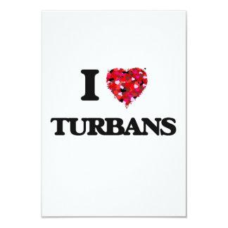 I love Turbans 9 Cm X 13 Cm Invitation Card
