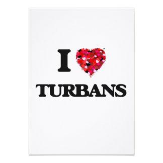 I love Turbans 13 Cm X 18 Cm Invitation Card