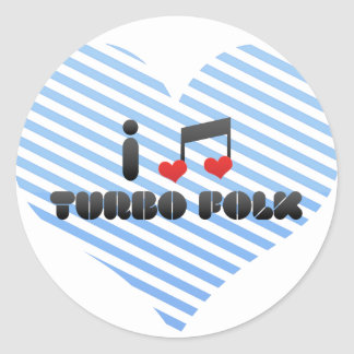 I Love Turbo Folk Sticker