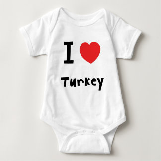 I love Turkey Baby Bodysuit
