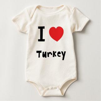 I love Turkey Baby Bodysuit