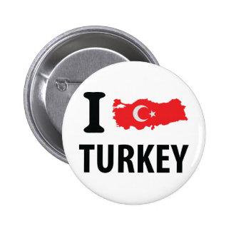 I love turkey contour icon pin