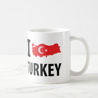 I love turkey contour icon basic white mug
