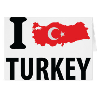 I love turkey contour icon greeting cards