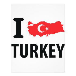 I love turkey contour icon full color flyer