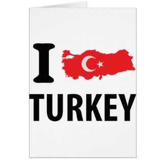 I love turkey contour icon greeting card
