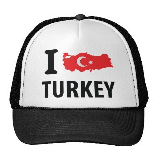 I love turkey contour icon trucker hat