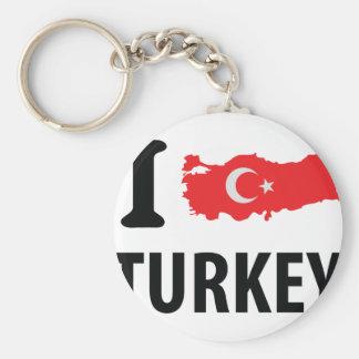 I love turkey contour icon keychains