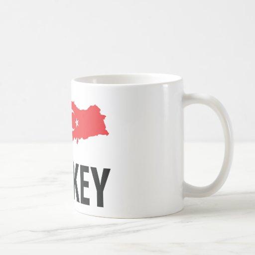 I love turkey contour icon coffee mugs