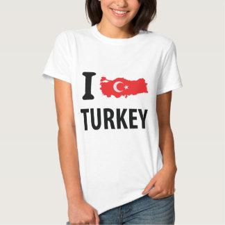 I love turkey contour icon shirt