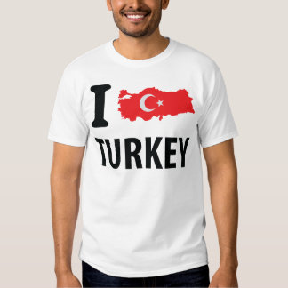 I love turkey contour icon shirts