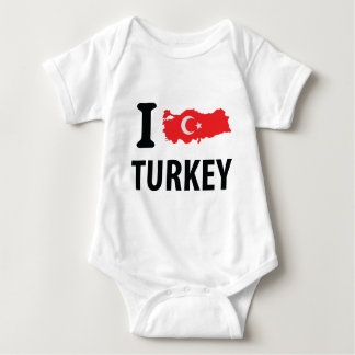 I love turkey contour icon t shirts