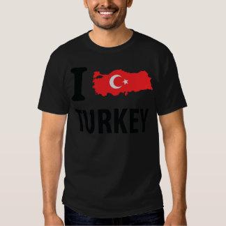I love turkey contour icon tee shirt
