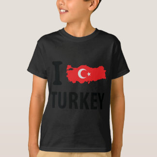 I love turkey contour icon tees