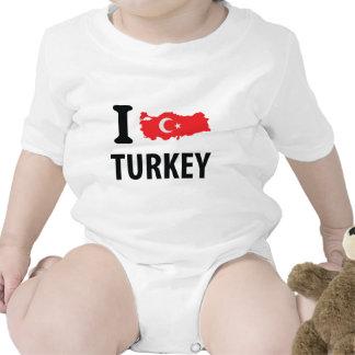 I love turkey contour icon bodysuit