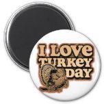 I Love Turkey Day Magnet Magnet